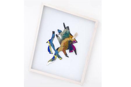 Medusa, 2016, Gouache/Pappe/Holz, 46,5 x 39,5 cm