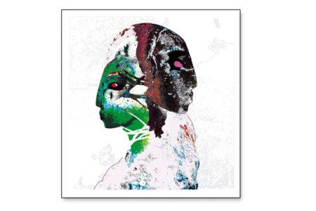 Janus, 2013, Mischtechnik / Piezo-Pigment-Print, 100x95 cm