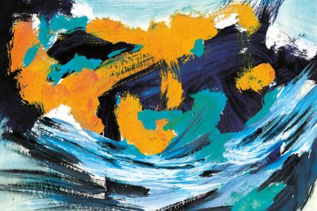 The Wave, 2020, Piezo-Pigmentprint, 96x120 cm