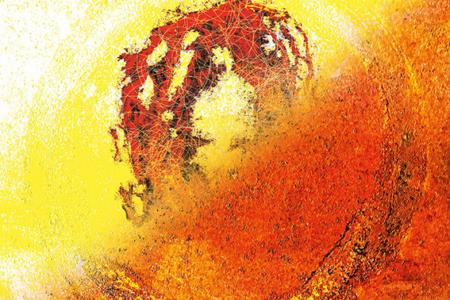 Wandel, 2020, Piezo-Pigmentprint, 80x80 cm